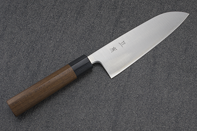 Akifusa Santoku (All purpose Knife), Super Blue Steel, 165mm