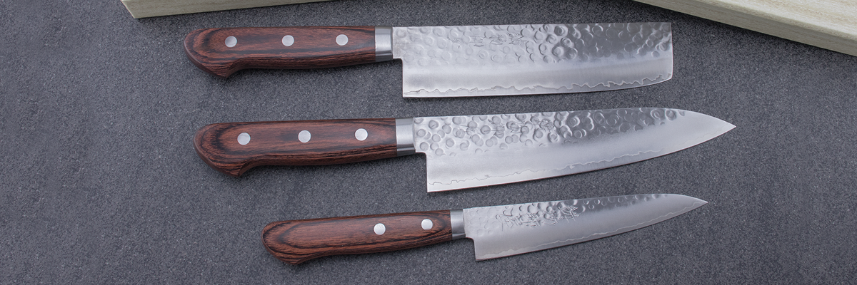 Hitohira HG knife set, Nakiri, gyuto, petty, Japanese knife, chefs knife