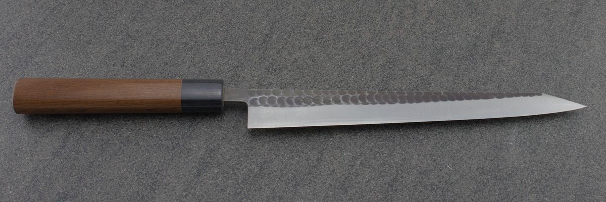 Ohishi Sujihiki (Carving Knife) Blue Steel #2, Kuro, 270mm, Japanese knife, Chef knife